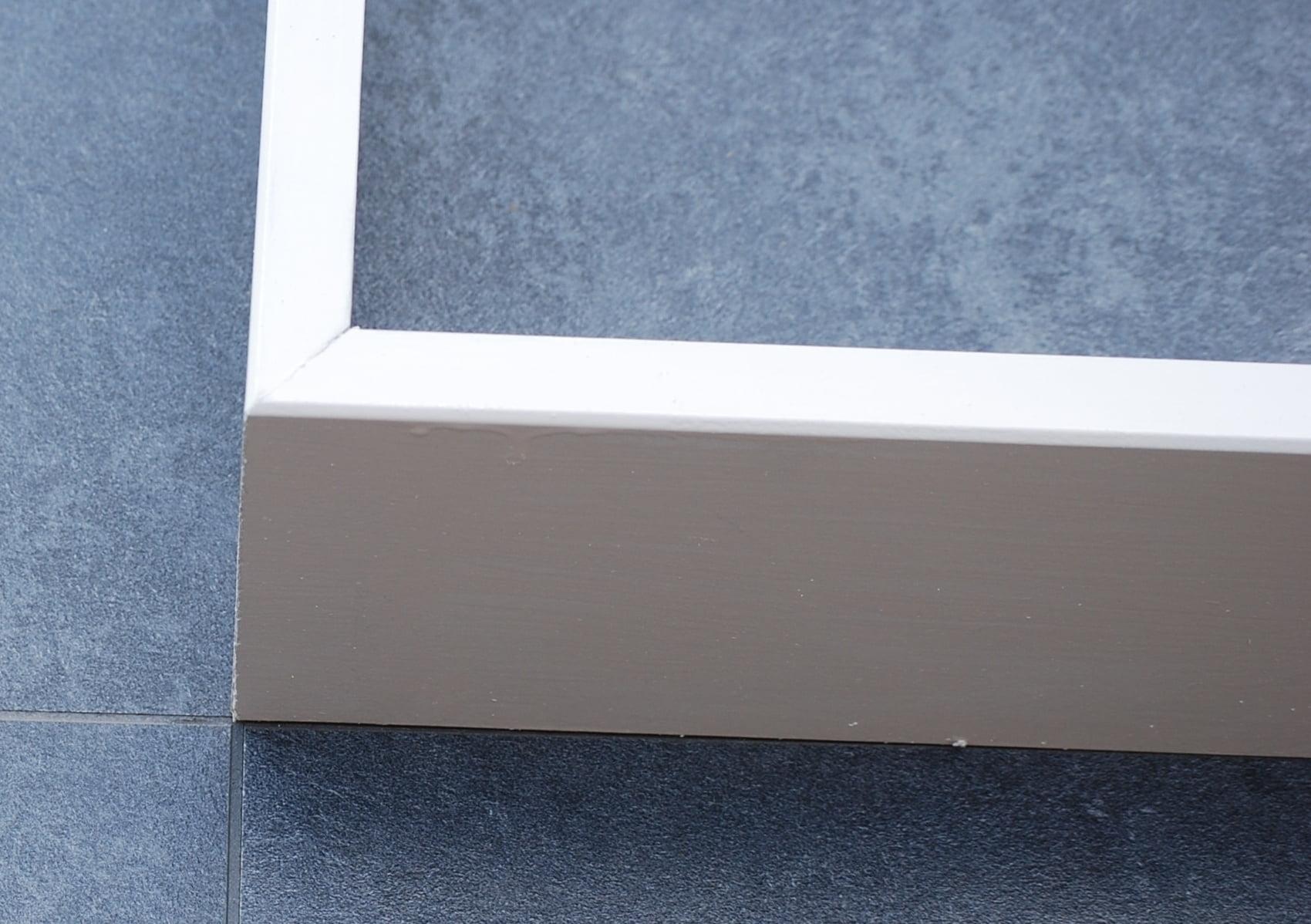 Mdf moderne plint wit gegrond all in laminaat