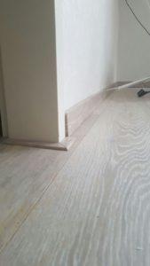 nieuwe vloer - plint
